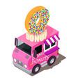 donut machine icon isometric style vector image vector image
