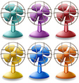 Electric fans vector image