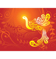 fantasy golden bird vector image