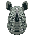 Ferocious rhinoceros head vector image