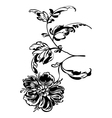 flower black white vector image vector image