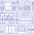 Furniture line icon design vector image