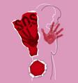 girlvictim domestic violence vector image vector image