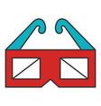 glasses 3d cinema icon