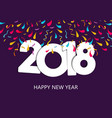 happy new year 2018 party celebration holiday card vector image vector image