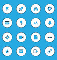 interface colorful icons set collection of events vector image vector image