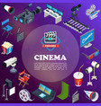 isometric cinema concept vector image