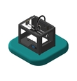 Isometric icons 3D Printer Pictograms 3D Printer vector image vector image