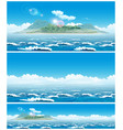 landscape of the open sea with the island vector image vector image