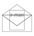 letter the black color icon vector image vector image