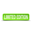 limited edition green 3d realistic square isolated vector image vector image
