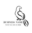 logo eagle that is hanging on a branch eps 10 vector image vector image