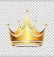 luxury golden crown logo vector image vector image