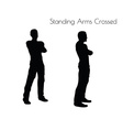 man in Standing Arms Crossed pose on white vector image vector image