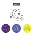 moon line icon vector image