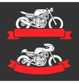 Motorcycle logo set vector image