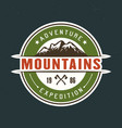 mountains travel and outdoor adventure vector image vector image