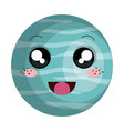 neptune planet kawaii character vector image