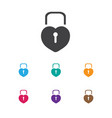 of love symbol on padlock icon vector image vector image