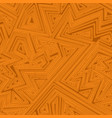 orange color geometric seamless pattern vector image