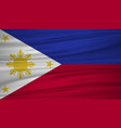 philippines flag flag of philippines blowig in vector image vector image