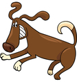 playful dog cartoon vector image vector image
