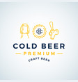 premium cold beer abstract beer sign vector image