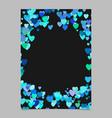 random heart page border background design - love vector image vector image