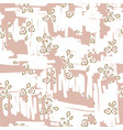 retro light floral seamless pattern with hand vector image vector image
