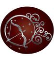 sagittarius zodiac sign in circle frame vector image vector image