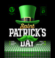 saint patricks day party poster design 17 march vector image vector image