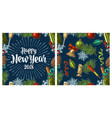 seamless pattern with happy new year 2018 vector image vector image