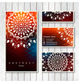 set of business visiting greeting cards vector image vector image
