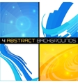 Set of polygonal abstract backgrounds vector image vector image