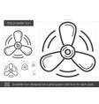 ship propeller line icon vector image vector image