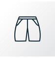 shorts icon line symbol premium quality isolated vector image vector image