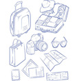 Sketch of Travel Object Symbol vector image vector image