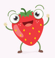 strawberry character vector image vector image