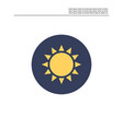 sun light icon vector image vector image