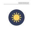 sun light icon vector image
