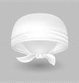 white realistic head bandana isolated vector image