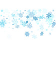 winter snowflakes border cool background vector image