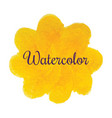 yellow flower watercolor hand drawn texture vector image vector image