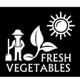 black agriculture symbol vector image