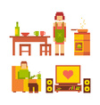 colorful of woman and man happy family coupl vector image
