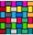 Glossy color mosaic pattern vector image