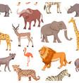 african savannah wild animal seamless pattern vector image