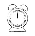 alarm clock time alert hour icon vector image vector image