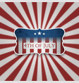 american 4th of july celebration background vector image vector image