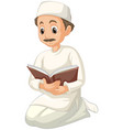arab muslim man in traditional clothing in vector image vector image